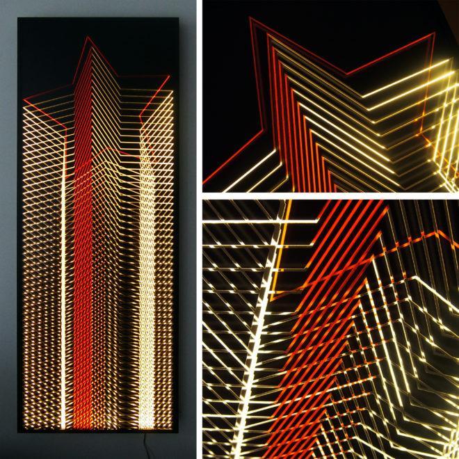 Red Star Tower Mini-Cinema Lightbox