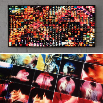 Mini-Cinema Lightbox - Pink Narcissus Selection 22x46 Grid - Light Art by Hugo Cantin