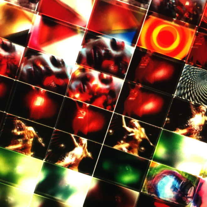 Mini-Cinema Lightbox - Alice in Acidland Mashup 22x46 Grid - Light Art by Hugo Cantin