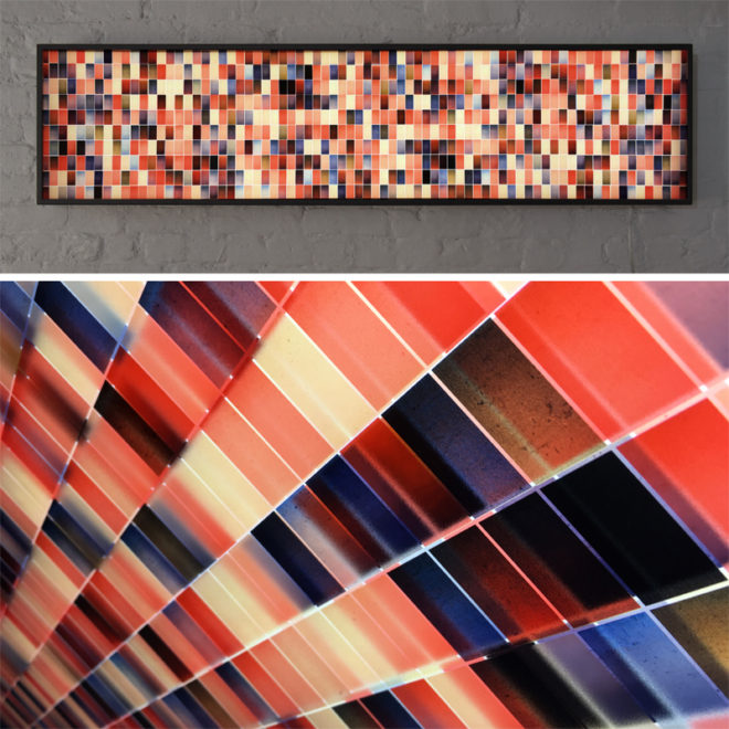 Mini-Cinema Lightbox - Color Variations 14x58 Grid - Light Art by Hugo Cantin