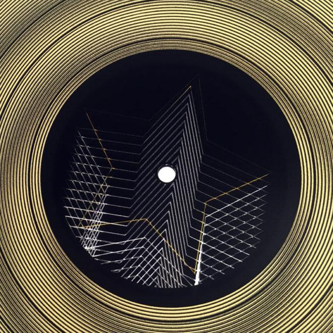 "12"" Lux Record Goldstar - Graphic Line Art Optical Illusion – 14×14 Lightbox"