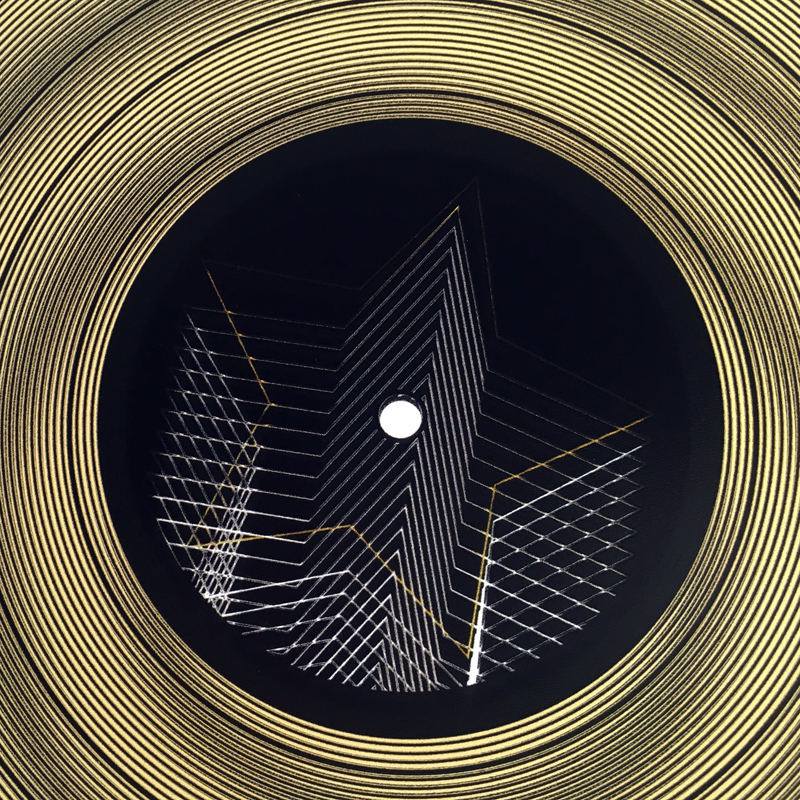 Line Art Optical Illusion : Lux record goldstar graphic line art optical