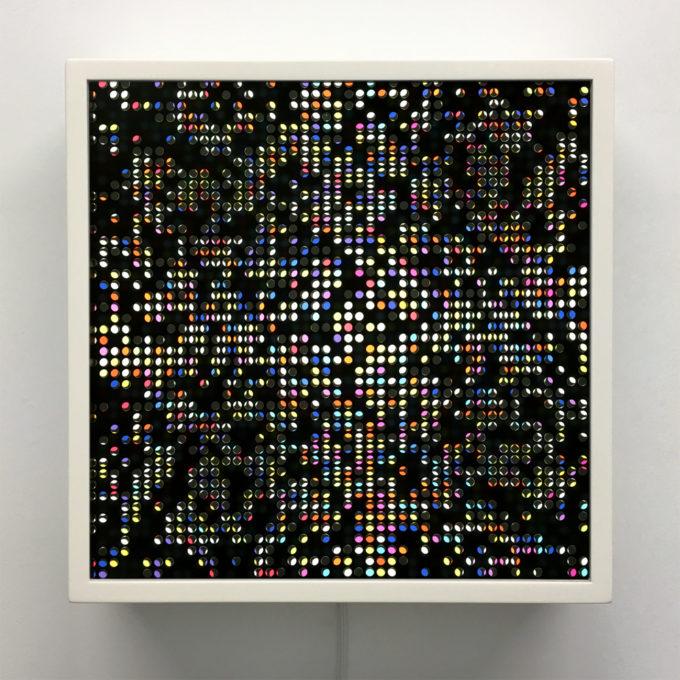 Lite-Brite Series - Graphic Design Optical Art Illusion - 12×12 Lightbox