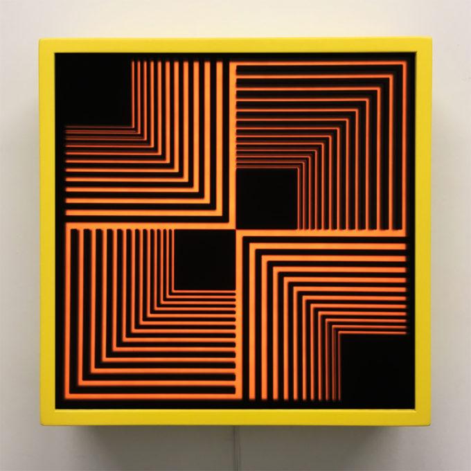 Retro-Futurism Series - Graphic Art Optical Illusion - 12×12 Lightbox
