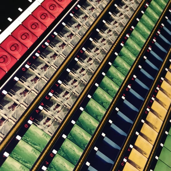 The Beatles 1967 Flying Acid Landscapes - Rare 16mm Film Collage - 58x14 Lightbox by Hugo Cantin / Mini-Cinema