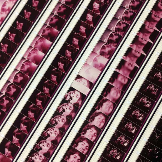 The Beatles 1968 Revolution - Rare 16mm Film Collage - 30x20 Lightbox by Hugo Cantin / Mini-Cinema