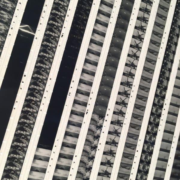 Bikini Atomic Blast 1946 Historical Footage - Rare 16mm Film Collage - 14x14 Lightbox by Hugo Cantin / Mini-Cinema
