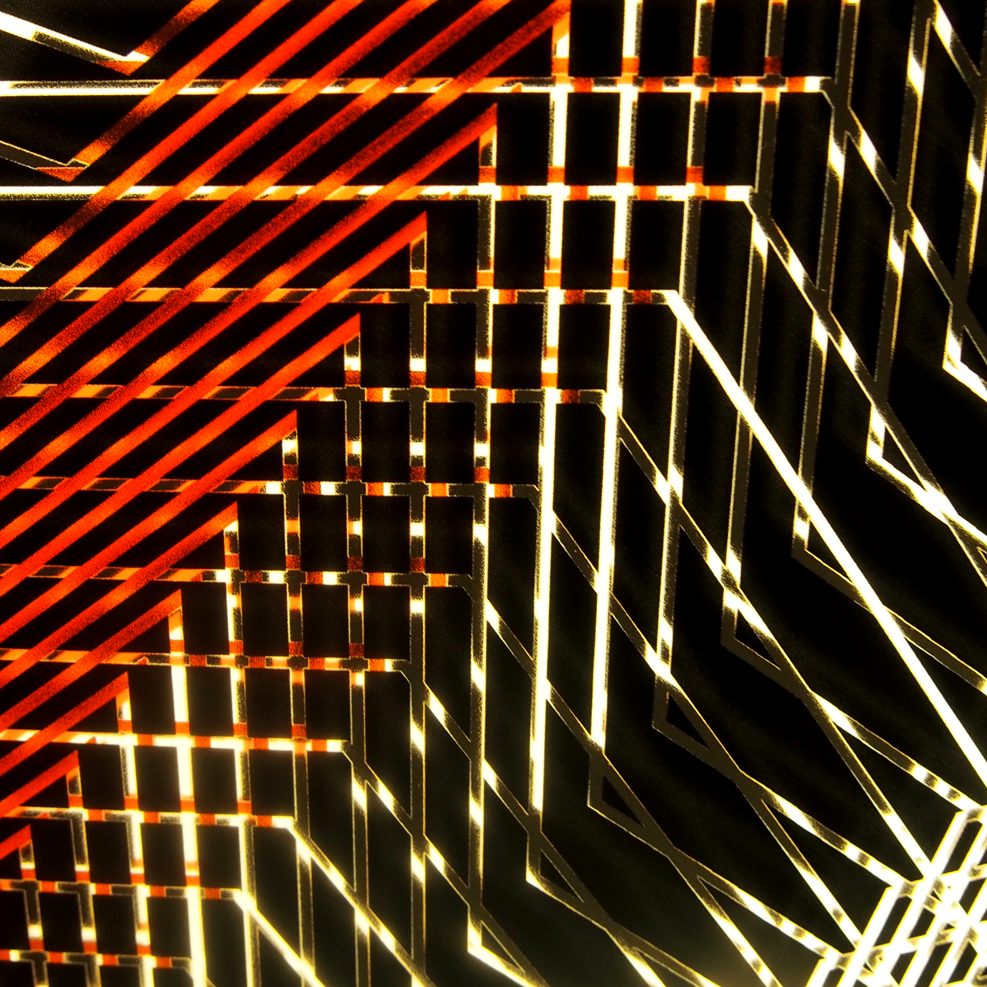 Red Star Tower Mini-Cinema Lightbox (detail)