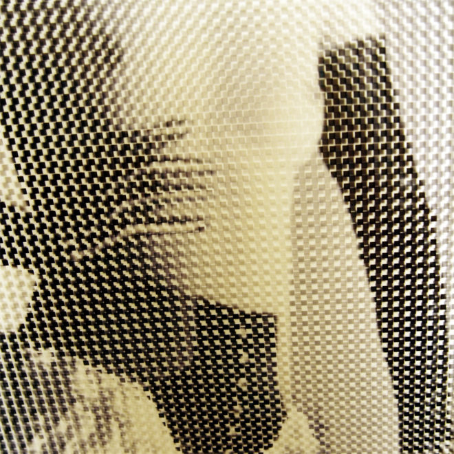 1930s Diana Slip Risque Fashion - Pixels Abstraction - 18x12 Lightbox by Mini-Cinema (Detail)