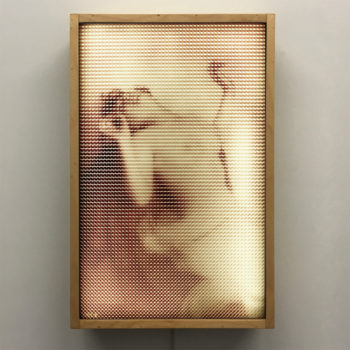 Dream of Ecstasy 1910s Pixelated Erotica - 12x18 Lightbox by Mini-Cinema