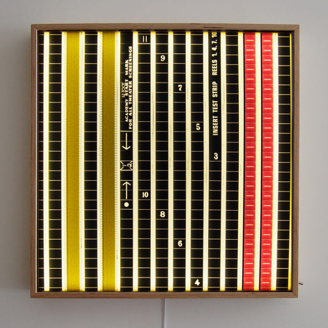 35mm Film Leader Countdown 20x20 Mini-Cinema Lightbox