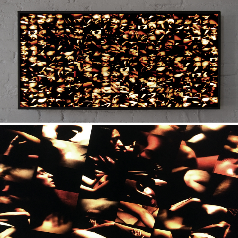 Mini-Cinema Lightbox - Luminous Skins Selection 22x46 Grid - Light Art by Hugo Cantin