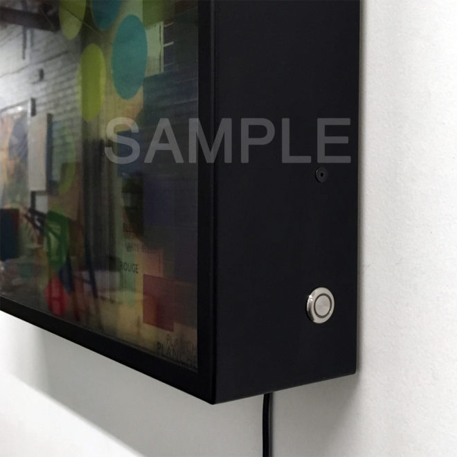 Touch Switch Dimmer - Metal Frame Sample