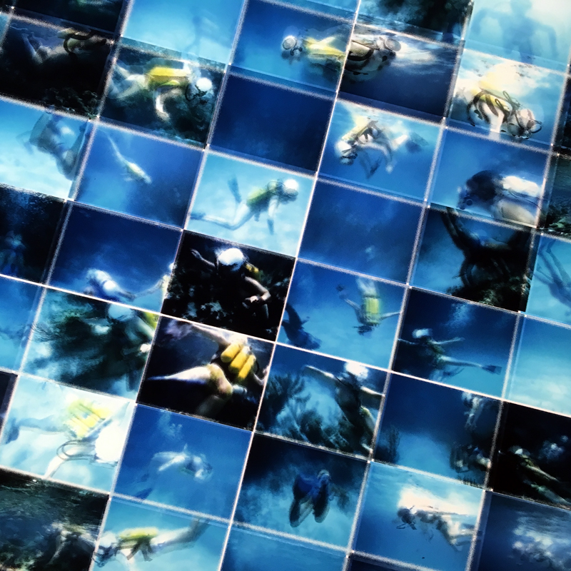 Mini-Cinema Lightbox - Tiger Reef Dive 22x46 Grid - Light Art by Hugo Cantin