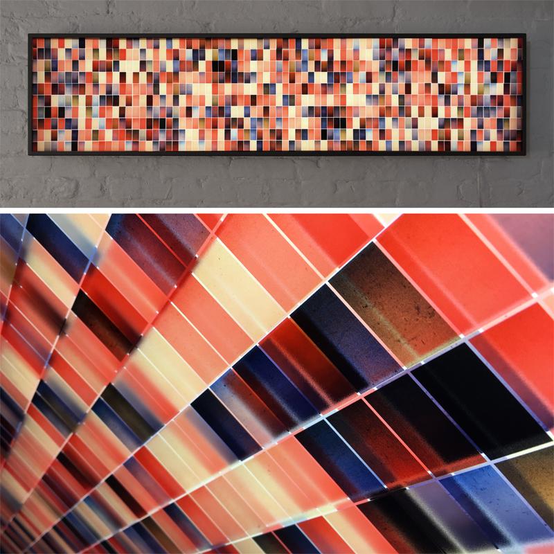 Mini-Cinema Lightbox - Color Variations 14x58 Grid - Light Art by Hugo Cantin