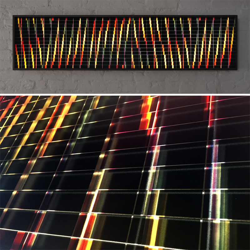 Mini-Cinema Lightbox - Psychedelic Abstraction 14x58 Grid - Light Art by Hugo Cantin