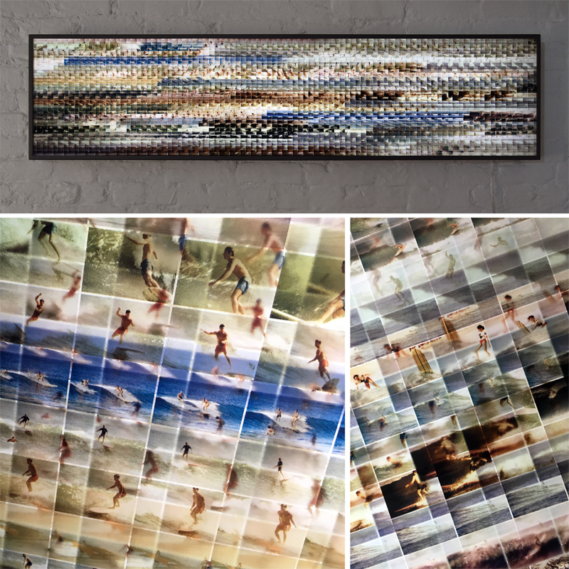 Mini-Cinema Lightbox - Mondo Mod Surf 14x58 Grid - Light Art by Hugo Cantin