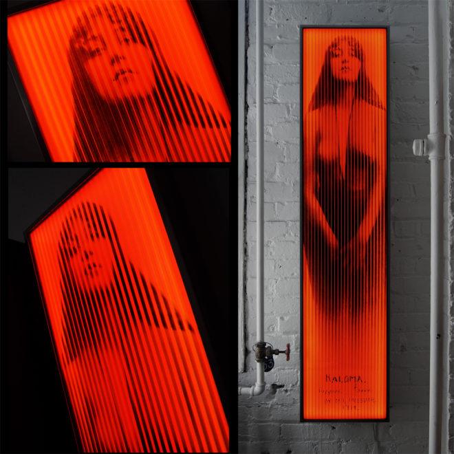 Vanishing Kaloma 1914 Mystery Girl - Vintage Erotica - Lofty 58x14 Lightbox by Mini-Cinema / Hugo Cantin