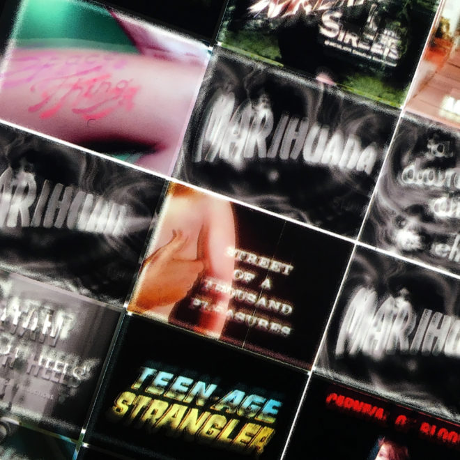 Something-Weird-Video-Trailers---Grindhouse-Odd-Movies---14x36-Led-Lightbox-by-Mini-Cinema-(Detail-1)