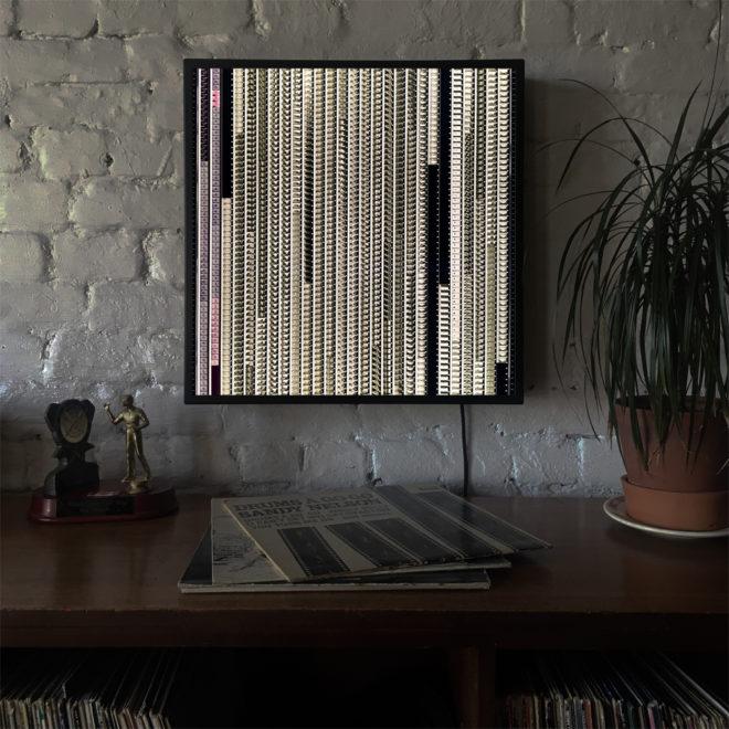 The Beatles Help - Black Metal 18x18 Lightbox In Situ