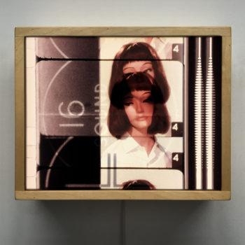 16mm Film Leader Test Card Lady - 9x11 Led Lightbox by Mini-Cinema
