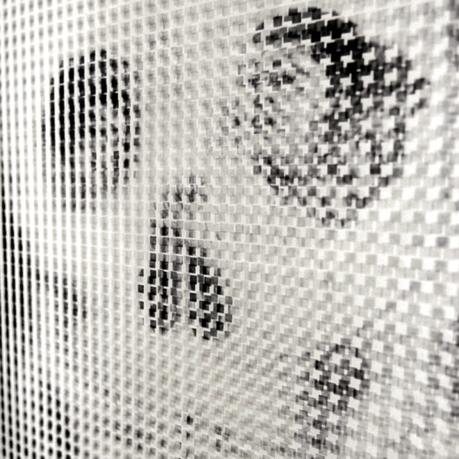 1910s Metamorphic Skull - Pixelated Optical Illusion - 18x12 Lightbox by Mini-Cinema (Detail)