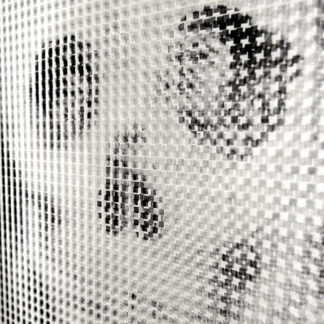 1910s Metamorphic Skull - Pixelated Optical Illusion - 18x12 Lightbox by Mini-Cinema (Detail)