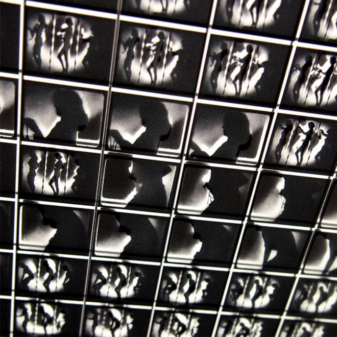 1950s Burlesque Shadowplay Striptease – 11x9 Led Lightbox by Mini-Cinema (Detail 2)