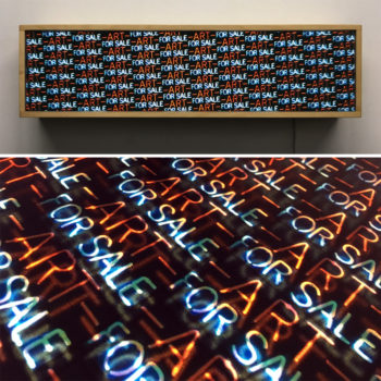 Art for Sale - Neon Style Repetitive Pattern – 7x28 Led Lightbox by Mini-Cinema