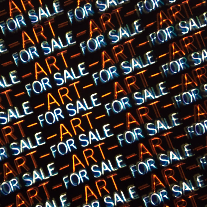 Art for Sale - Neon Style Repetitive Pattern – Led Lightbox by Mini-Cinema (Detail)
