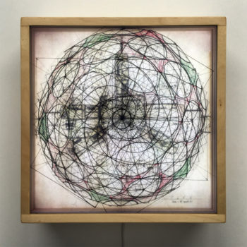 Bucky's Masterplan Geodesic Architecture - Mid Century Ephemera 12x12 Lightbox by Mini-Cinema