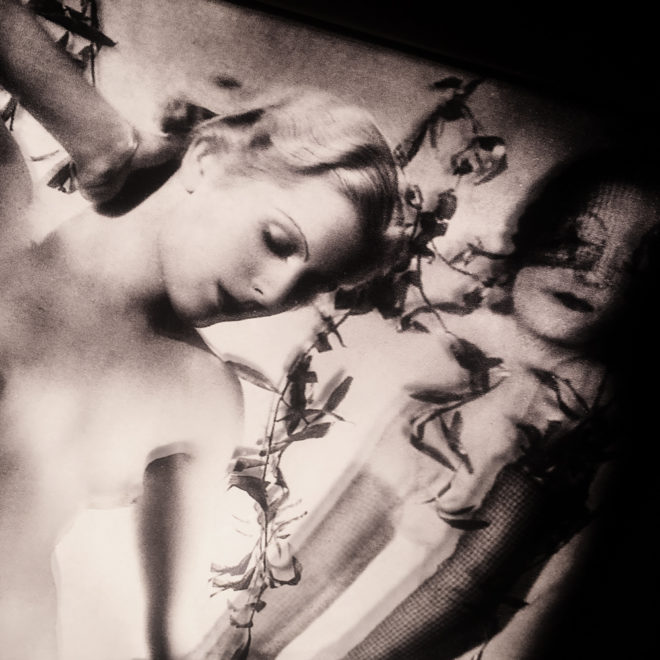 Dream Fantasy 1930s Burlesque Postcard Mashup - 11x9 Lightbox by Mini-Cinema (Detail)