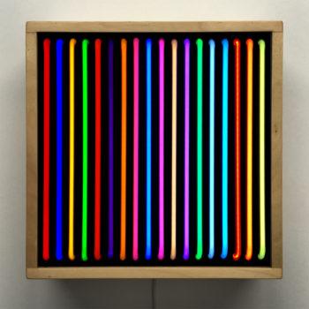 Faux Neon - Double Print Optical Effect - 12×12 Lightbox by Mini-Cinema