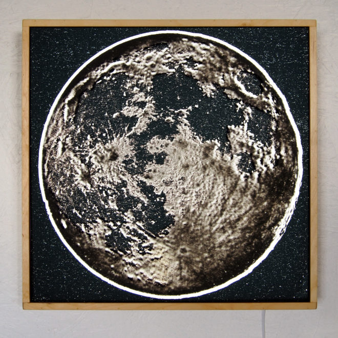 Full Moon from Space – 20x20 Led Lightbox by Mini-Cinema