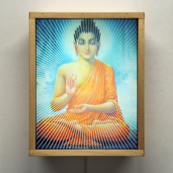Gautama Buddha Illusion - Iconic Meditation Superstar - 11x9 Lightbox by Mini-Cinema