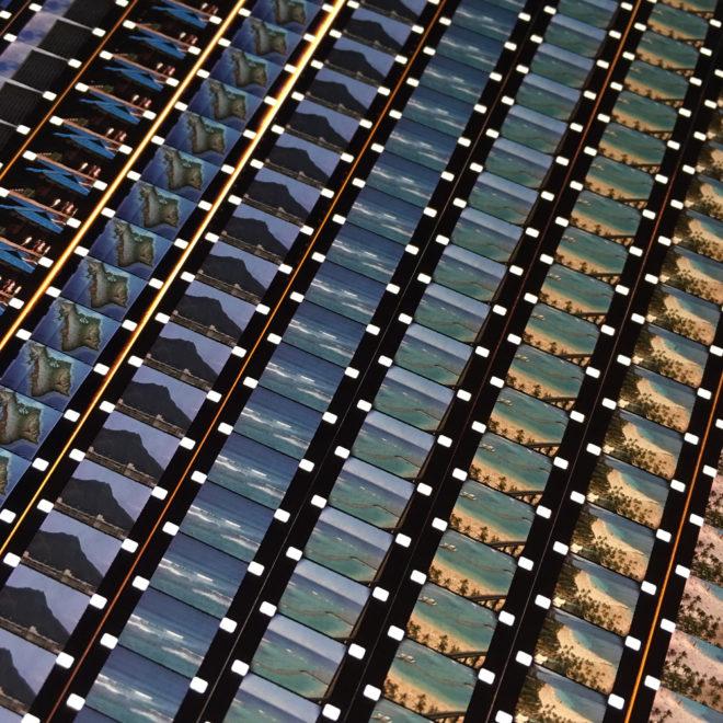 Hawaii Waikiki Beach Honolulu 1978 Vacation Home Movie - Rare 16mm Film Collage - 14x14 Lightbox by Mini-Cinema (Detail 1)