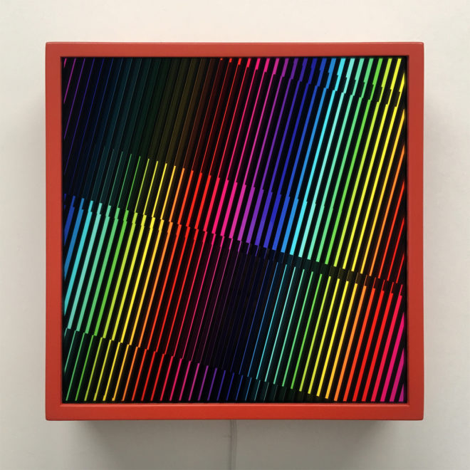 Prismacolor Interference #4 Rainbow Optical Effect - 12×12 Lightbox
