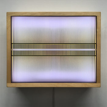 Linear Zone Plate - Abstract Pattern Optical Effect – 9x11 Led Lightbox by Mini-Cinema