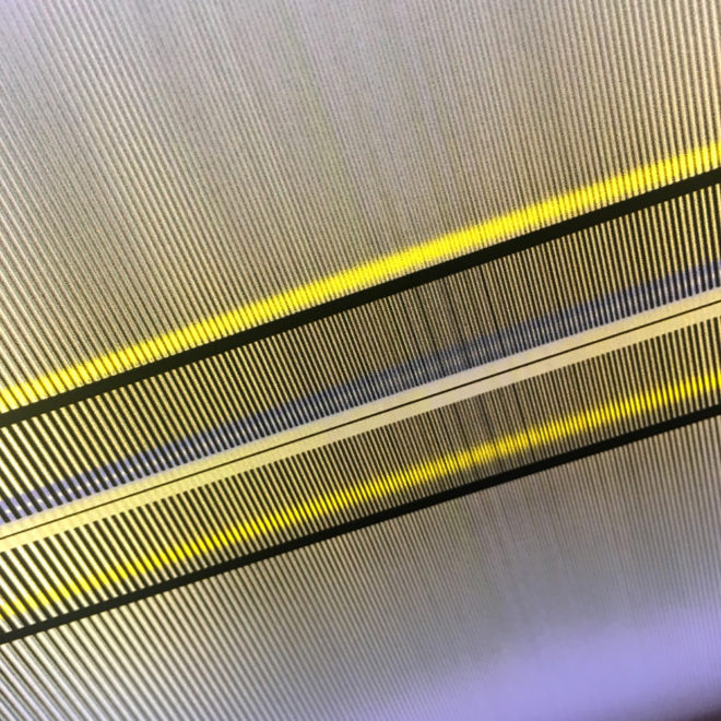 Linear Zone Plate - Abstract Pattern Optical Effect – 9x11 Led Lightbox by Mini-Cinema (Detail 1)