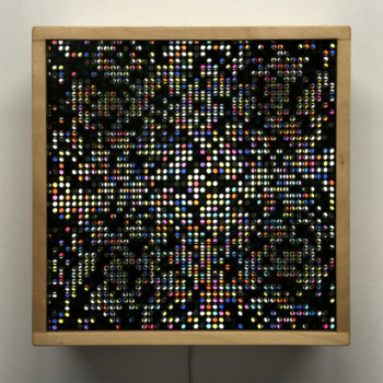 Lite Brite #1 - Colorful Dots Optical Effect - 12×12 Lightbox by Mini-Cinema