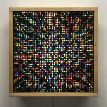 Lite Brite #2 - Colorful Dots Optical Effect - 12×12 Lightbox by Mini-Cinema