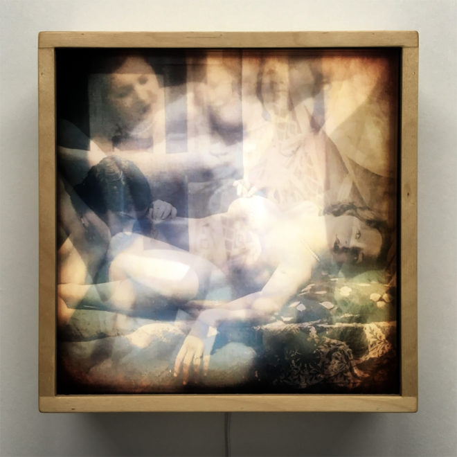 1920s Vanishing Lovers XX Lesbian Erotica - 12x12 Lightbox by Mini-Cinema