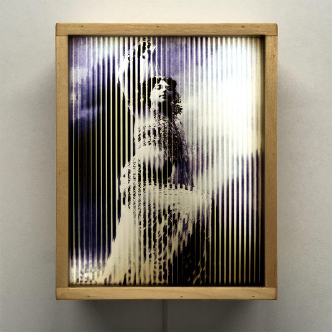 Mata Hari Illusion - 1900s Exotic Dancer & Spy - 11x9 Led Lightbox by Mini-Cinema