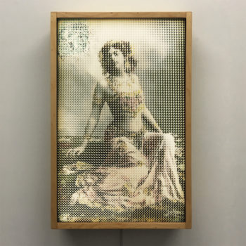 Mata Hari Illusion - Pixelated Exotic Dancer & Spy - 18x12 Lightbox by Mini-Cinema