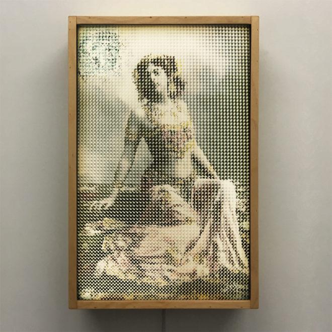 Mata Hari Illusion - Pixelated Exotic Dancer & Spy - 18x12 Lightbox by Mini-Cinema