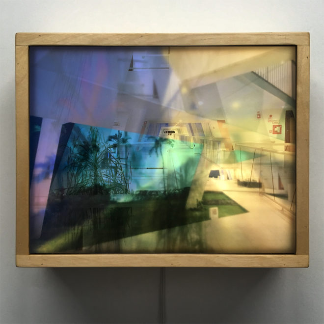 Mexican Resort Superimposed Architecture - 11x11 Lightbox by Mini-Cinema
