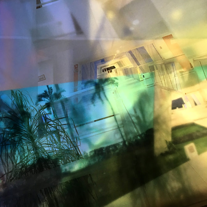 Mexican Resort Superimposed Architecture - 11x11 Lightbox by Mini-Cinema (Detail 2)