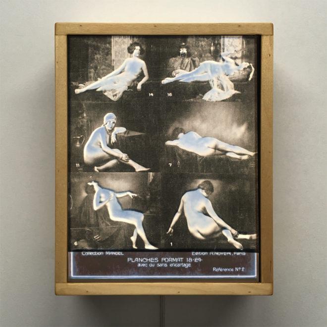 Mixing Mandel - 1920s Stock Card Erotica - 11x9 Lightbox