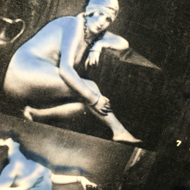 Mixing Mandel - 1920s Stock Card Erotica - 11x9 Lightbox by Mini-Cinema (Detail 1)