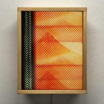 Mount Fuji Hokusai - Pixelated Filmstrip - 11x9 Led Lightbox by Mini-Cinema